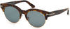 Tom Ford FT0598 Henri-02 Round Sunglasses 55V-55V - Coloured Havana / Blue