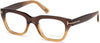 Tom Ford FT5178 Geometric Eyeglasses 050-050 - Dark Brown/other