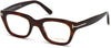Tom Ford FT5178 Geometric Eyeglasses 052-052 - Dark Havana