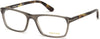 Tom Ford FT5295 Geometric Eyeglasses 020-020 - Matte Grey Front, Havana Temples