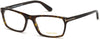 Tom Ford FT5295 Geometric Eyeglasses 052-052 - Matte Classic Havana, Shiny Classic Havana