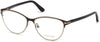 Tom Ford FT5420 Cat Eyeglasses 049-049 - Matte Dark Brown & Shiny Rose Gold, Shiny Classic Dark Havana Temples