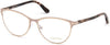 Tom Ford FT5420 Cat Eyeglasses 074-074 - Matte Rose Nude, Shiny Rose Gold, Antique Pink Havana Temples