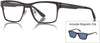 Tom Ford FT5475 Geometric Eyeglasses 12V-12V - Shiny Dark Ruthenium / Blue