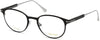 Tom Ford FT5482 Round Eyeglasses 001-001 - Shiny Black, Shiny Rhodium