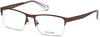 Guess GU1936 Geometric Eyeglasses 049-049 - Matte Dark Brown
