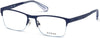 Guess GU1936 Geometric Eyeglasses 091-091 - Matte Blue