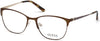 Guess GU2583 Geometric Eyeglasses 049-049 - Matte Dark Brown