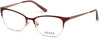 Guess GU2584 Cat Eyeglasses 070-070 - Matte Bordeaux