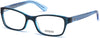 Guess GU2591 Geometric Eyeglasses 090-090 - Shiny Blue
