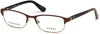Guess GU2614 Geometric Eyeglasses 049-049 - Matte Dark Brown