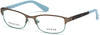 Guess GU2614 Geometric Eyeglasses 050-050 - Dark Brown