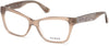Guess GU2622 Geometric Eyeglasses 057-057 - Shiny Beige