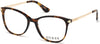 Guess GU2632-S Geometric Eyeglasses 052-052 - Dark Havana