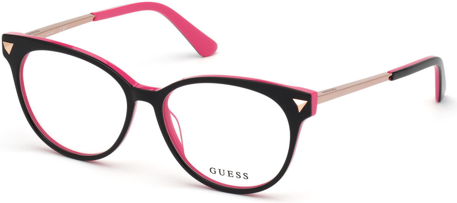 Guess GU2799 Round Eyeglasses 005-005 - Black
