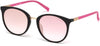 Guess GU3022 Round Sunglasses 02U-02U - Matte Black / Bordeaux Mirror