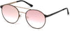 Guess GU3023 Round Sunglasses 02U-02U - Matte Black / Bordeaux Mirror