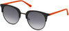 Guess GU3026 Round Sunglasses 01B-01B - Shiny Black  / Gradient Smoke