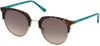 Guess GU3026 Round Sunglasses 52F-52F - Dark Havana / Gradient Brown