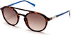 Guess GU3033 Round Sunglasses 52F-52F - Dark Havana / Gradient Brown Lenses