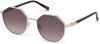 Guess GU3034 Round Sunglasses 24F-24F - White / Gradient Brown Lenses