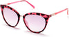Guess GU3035 Cat Sunglasses 74U-74U - Pink /other / Bordeaux Mirror