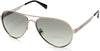Guess GU6897 Aviator Sunglasses 09R-09R - Matte Gunmetal  / Green Polarized