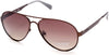 Guess GU6897 Aviator Sunglasses 49H-49H - Matte Dark Brown / Brown Polarized