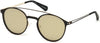 Guess GU6921 Round Sunglasses 02G-02G - Matte Black / Brown Mirror