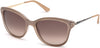 Guess GU7469 Geometric Sunglasses 57F-57F - Shiny Beige / Gradient Brown