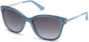 Guess GU7469 Geometric Sunglasses 84W-84W - Shiny Light Blue / Gradient Blue