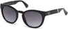 Guess GU7473 Round Sunglasses 01B-01B - Shiny Black  / Gradient Smoke