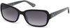 Guess GU7474 Geometric Sunglasses 01B-01B - Shiny Black  / Gradient Smoke
