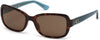 Guess GU7474 Geometric Sunglasses 52E-52E - Dark Havana / Brown