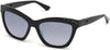 Guess GU7479-S Geometric Sunglasses 01C-01C - Shiny Black  / Smoke Mirror