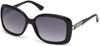 Guess GU7480-S Geometric Sunglasses 01C-01C - Shiny Black  / Smoke Mirror