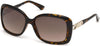 Guess GU7480-S Geometric Sunglasses 52F-52F - Dark Havana / Gradient Brown