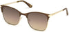 Guess GU7517 Square Sunglasses 49G-49G - Matte Dark Brown / Brown Mirror