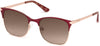 Guess GU7517 Square Sunglasses 70F-70F - Matte Bordeaux / Gradient Brown