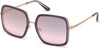 Guess GU7602 Geometric Sunglasses 83Z-83Z - Violet / Gradient Or Mirror Violet