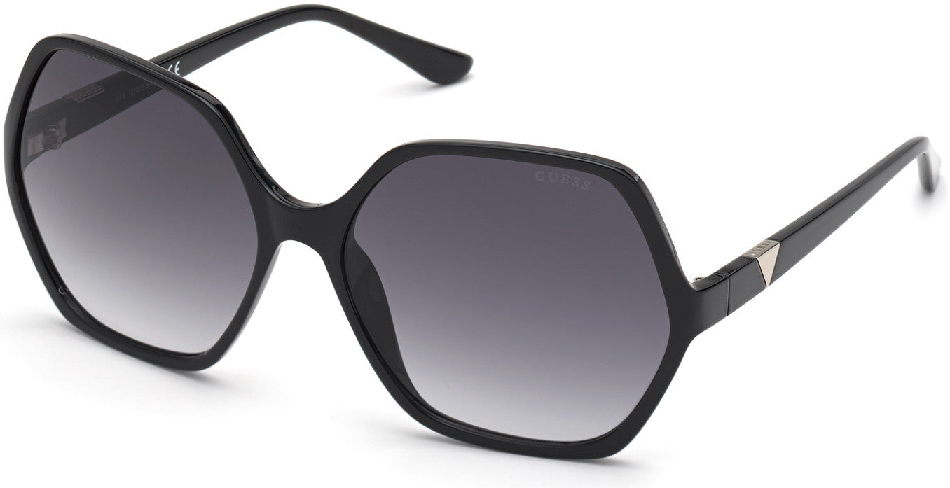 Guess GU7747 Geometric Sunglasses 01B-01B - Shiny Black  / Gradient Smoke