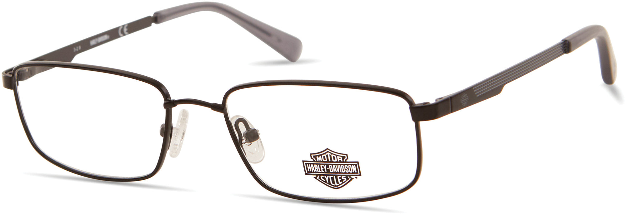 Harley-Davidson HD0141T Rectangular Eyeglasses 002-002 - Matte Black