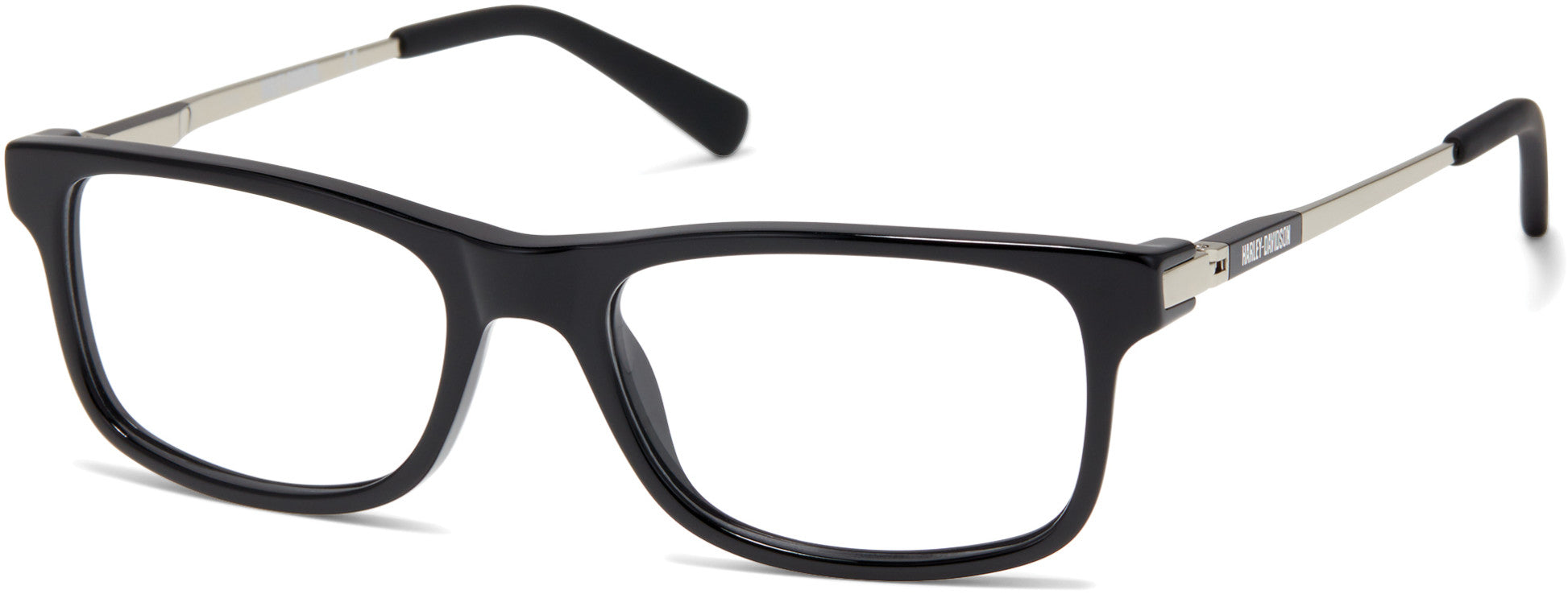Harley-Davidson HD0143T Rectangular Eyeglasses 001-001 - Shiny Black