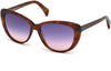 Just Cavalli JC646S Cat Sunglasses 53V-53V - Blonde Havana / Blue