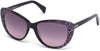 Just Cavalli JC646S Cat Sunglasses 83W-83W - Violet / Gradient Blue