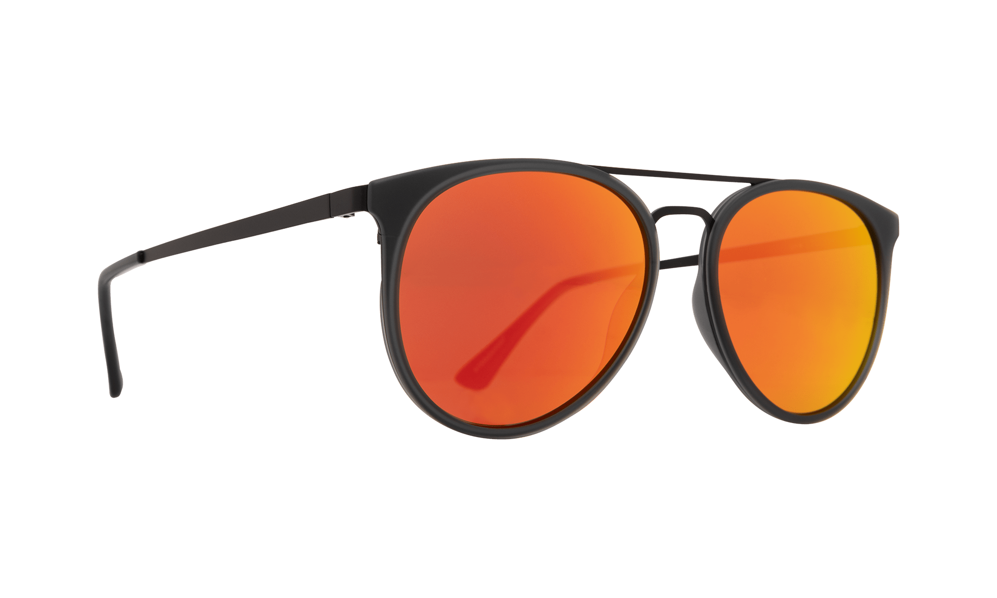 SPY toddy  Sunglasses  Bronze with Red Orange Mirror  56-17-147