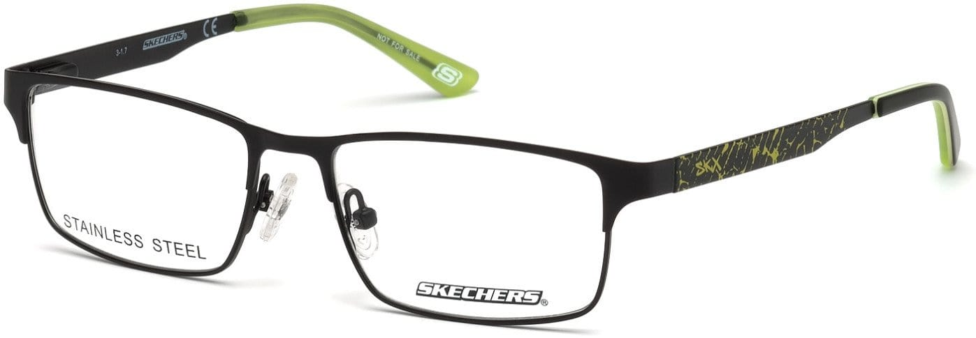 Skechers SE1149 Rectangular Eyeglasses 002-002 - Matte Black