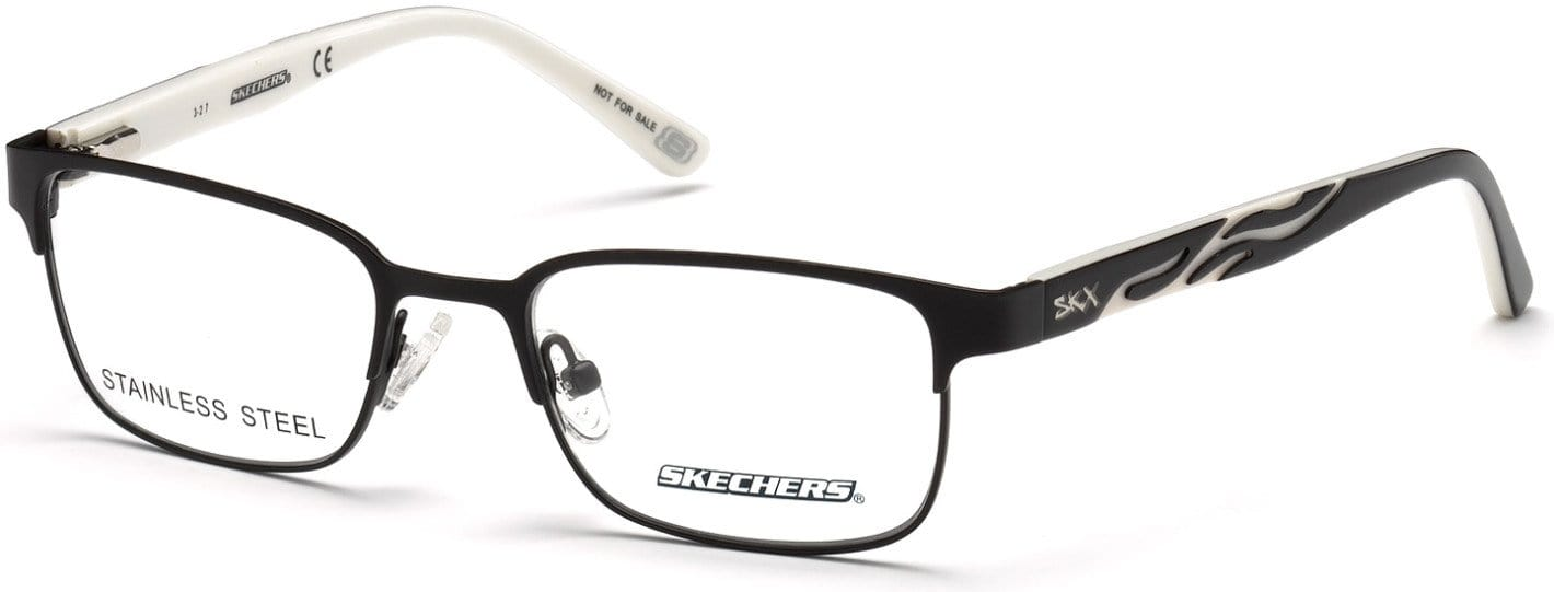 Skechers SE1151 Geometric Eyeglasses 002-002 - Matte Black