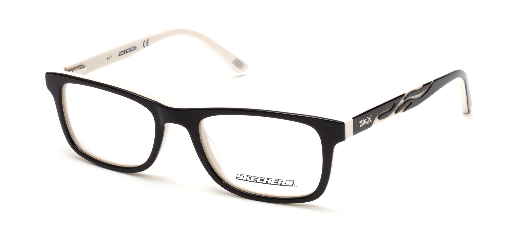 Skechers SE1152 Geometric Eyeglasses 001-001 - Shiny Black