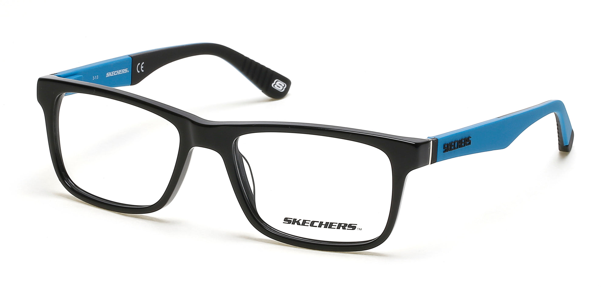 Skechers SE1158 Geometric Eyeglasses 001-001 - Shiny Black